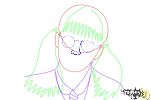 How to Draw Moaning Myrtle from Harry Potter And The Chamber Of Secrets - Step 10