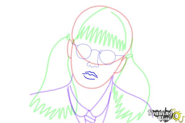 How to Draw Moaning Myrtle from Harry Potter And The Chamber Of Secrets - Step 11