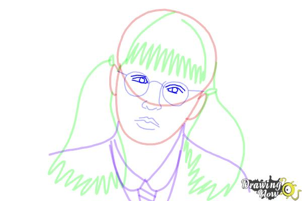 How to Draw Moaning Myrtle from Harry Potter And The Chamber Of Secrets - Step 12