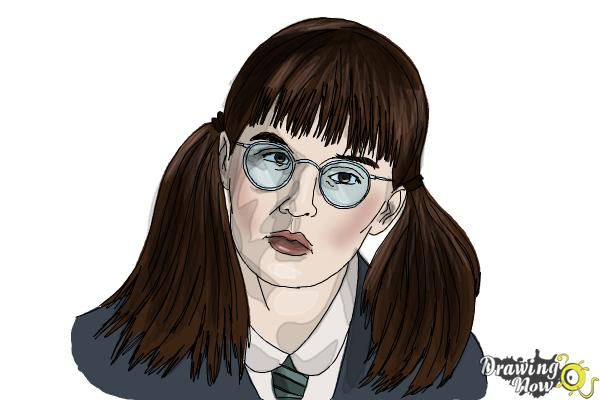 How to Draw Moaning Myrtle from Harry Potter And The Chamber Of Secrets - Step 14