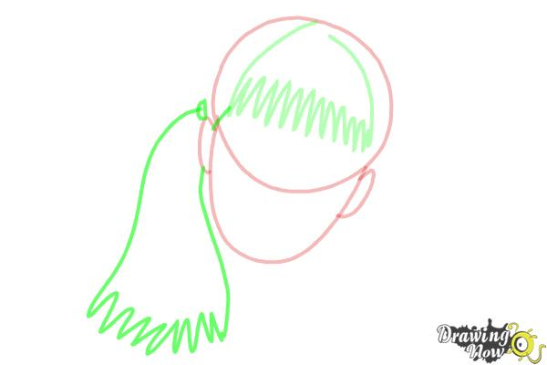 How to Draw Moaning Myrtle from Harry Potter And The Chamber Of Secrets - Step 4