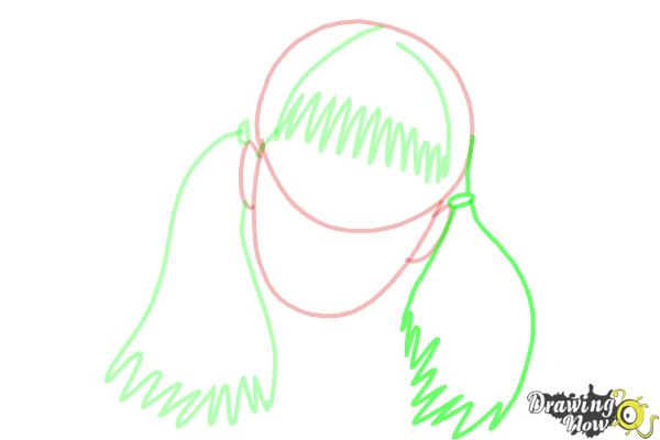 How to Draw Moaning Myrtle from Harry Potter And The Chamber Of Secrets - Step 5