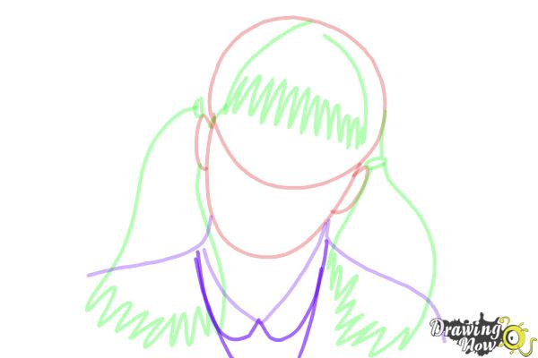 How to Draw Moaning Myrtle from Harry Potter And The Chamber Of Secrets - Step 7