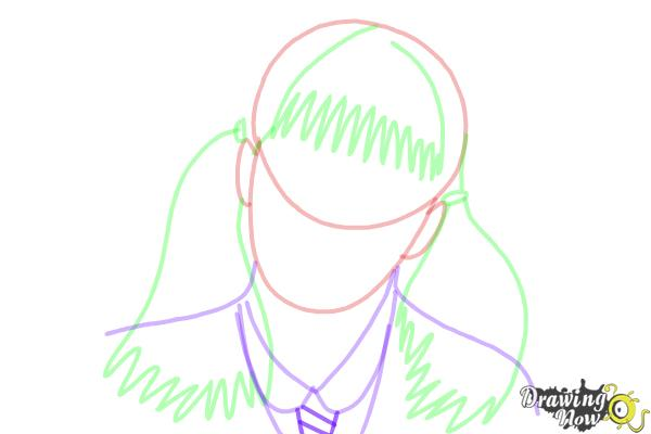 How to Draw Moaning Myrtle from Harry Potter And The Chamber Of Secrets - Step 8