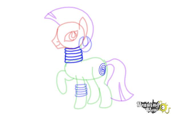 How to Draw Zecora from My Little Pony Friendship Is Magic - Step 10