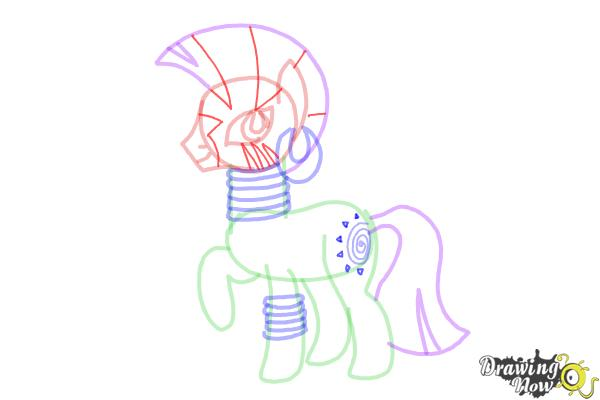How to Draw Zecora from My Little Pony Friendship Is Magic - Step 11
