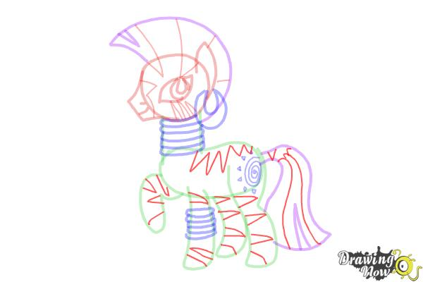 How to Draw Zecora from My Little Pony Friendship Is Magic - Step 12