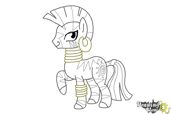 How to Draw Zecora from My Little Pony Friendship Is Magic - Step 13