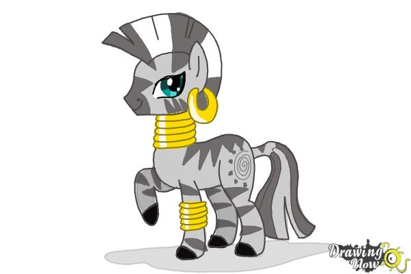 How to Draw Zecora from My Little Pony Friendship Is Magic - Step 14