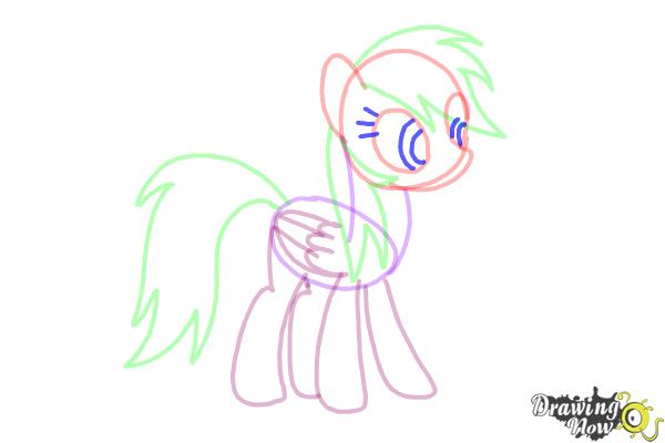 How to Draw Rainbow Dash from My Little Pony Friendship Is Magic - Step 7