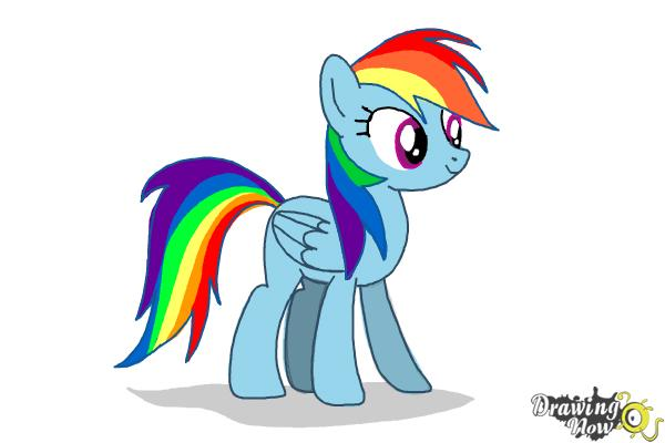 How to Draw Rainbow Dash from My Little Pony Friendship Is Magic - Step 9