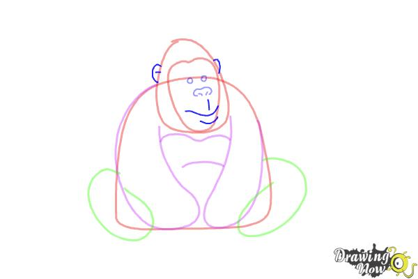 How to Draw a Gorilla For Kids - Step 5