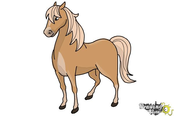 How to draw a horse easy step 10