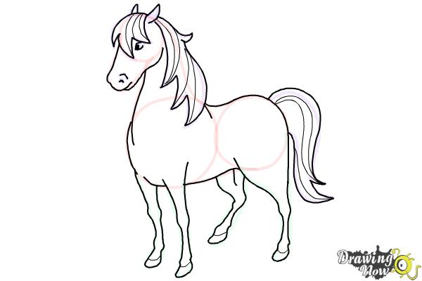 How to draw a horse easy step 9