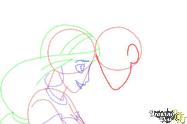 how to draw jasmine and aladdin drawingnow