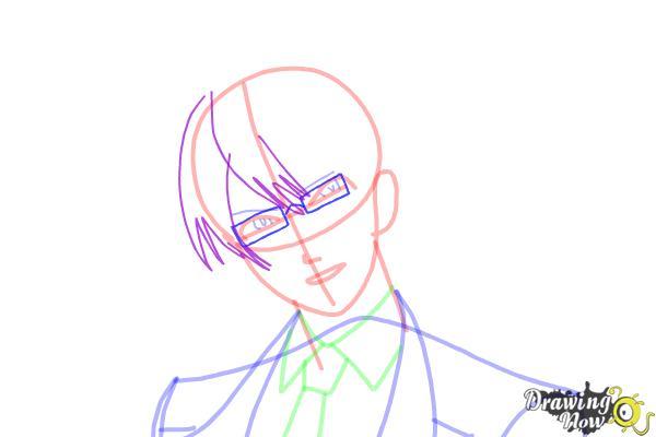 How to Draw Reiji Sakamaki Diabolik Lovers - Step 10
