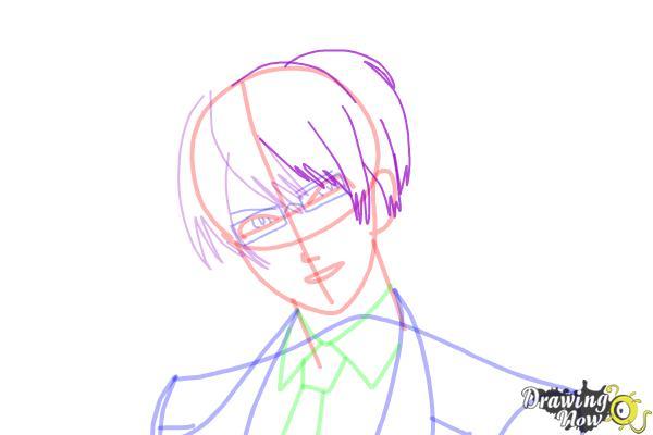 How to Draw Reiji Sakamaki Diabolik Lovers - Step 11