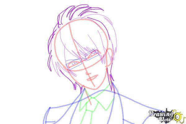 How to Draw Reiji Sakamaki Diabolik Lovers - Step 12