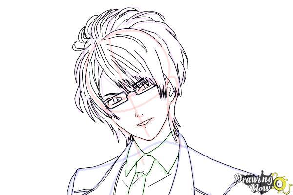 How to Draw Reiji Sakamaki Diabolik Lovers - Step 13