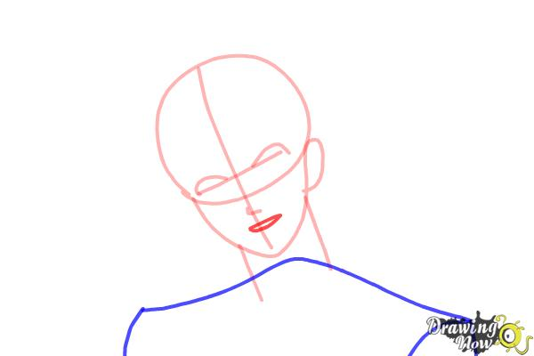 How to Draw Reiji Sakamaki Diabolik Lovers - Step 5