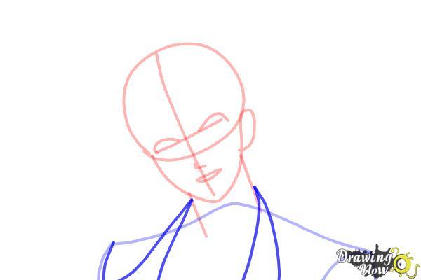 How to Draw Reiji Sakamaki Diabolik Lovers - Step 6