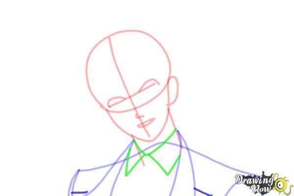 How to Draw Reiji Sakamaki Diabolik Lovers - Step 7