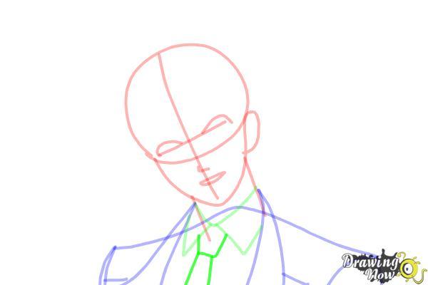 How to Draw Reiji Sakamaki Diabolik Lovers - Step 8