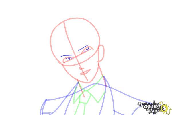 How to Draw Reiji Sakamaki Diabolik Lovers - Step 9