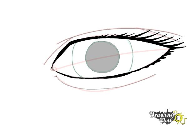 How to Draw an Eye Easy - Step 8
