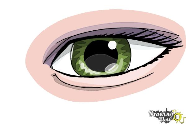 How to Draw an Eye Easy - Step 9