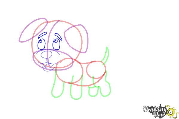 How to Draw a Baby Dog - Step 8