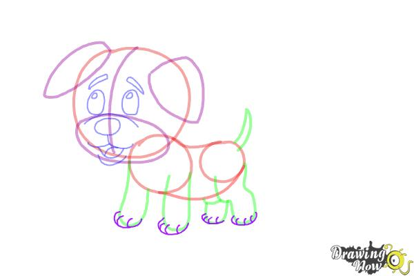 How to Draw a Baby Dog - Step 9