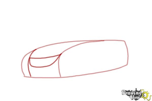 How to Draw a Car Step by Step - Step 2