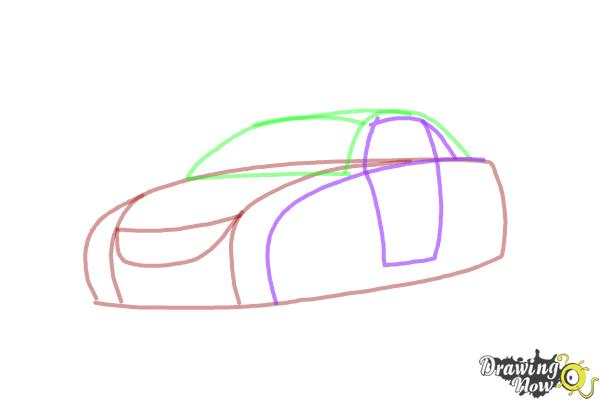 how to draw a car step by step video