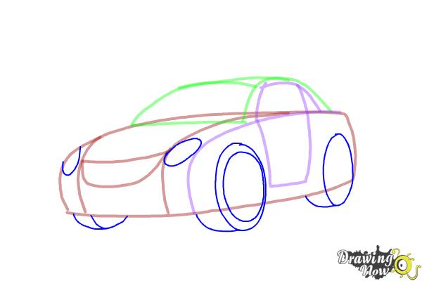 how to draw a race car step by step video