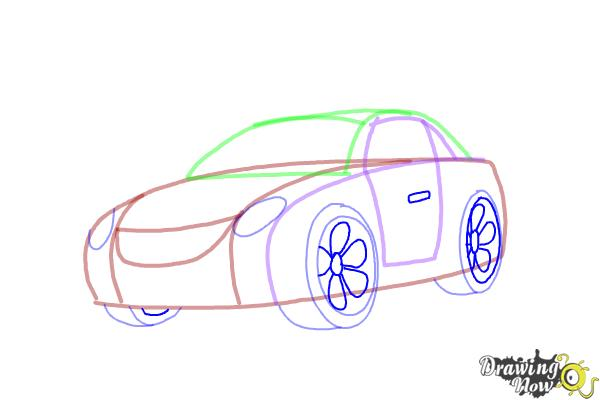 How to Draw a Car Step by Step - Step 6