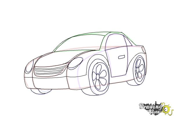 How to Draw a Car Step by Step - Step 7