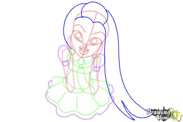 How to Draw Frankie Stein from Monster High - Step 10