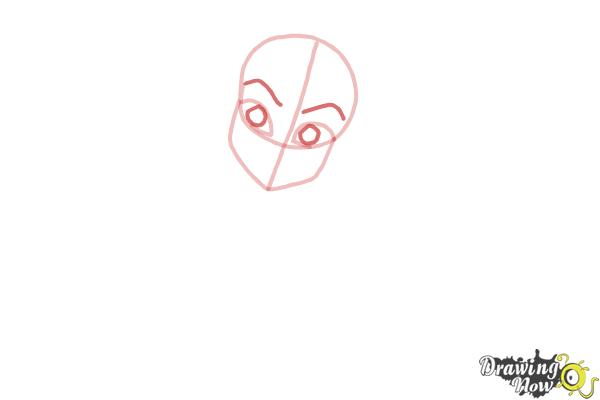 How to Draw Frankie Stein from Monster High - Step 3