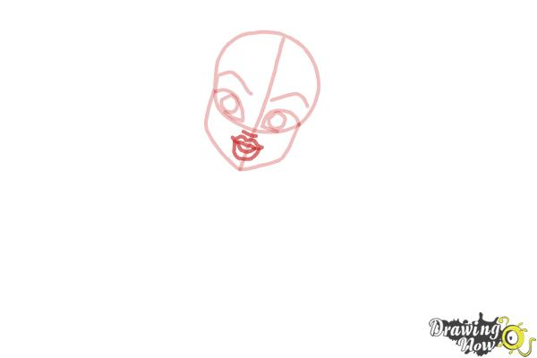 How to Draw Frankie Stein from Monster High - Step 4