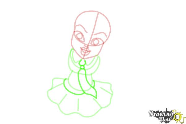 How to Draw Frankie Stein from Monster High - Step 7