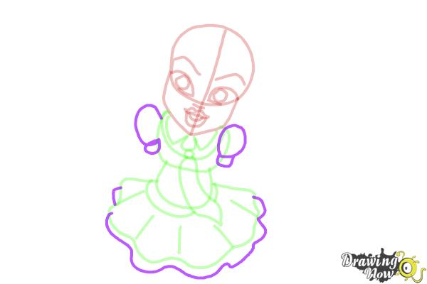 How to Draw Frankie Stein from Monster High - Step 8
