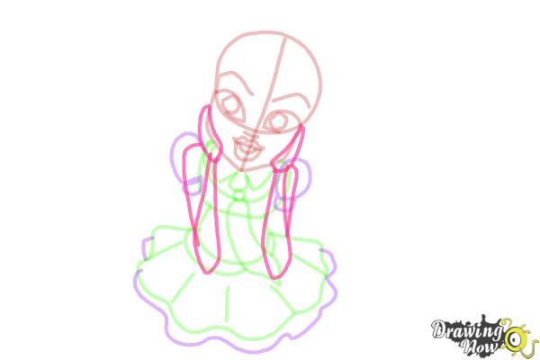 How to Draw Frankie Stein from Monster High - Step 9