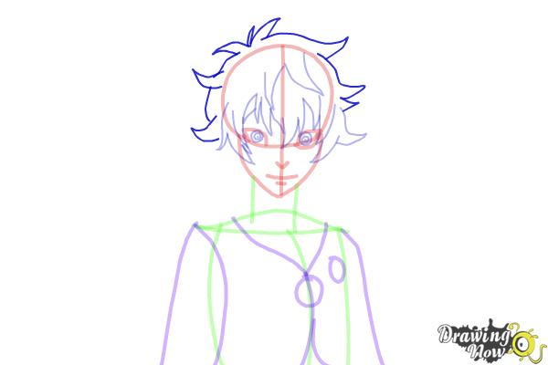 How to Draw Toto Sakigami from Deadman Wonderland - Step 10
