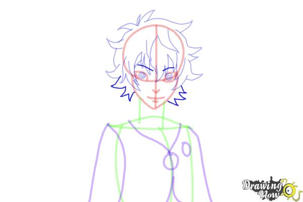 How to Draw Toto Sakigami from Deadman Wonderland - Step 11
