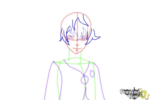 How to Draw Toto Sakigami from Deadman Wonderland - Step 9