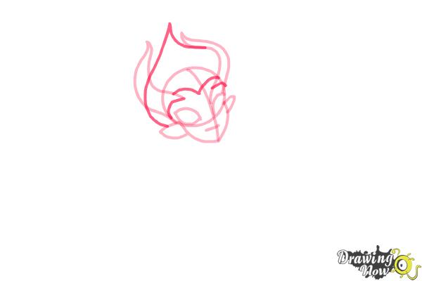 How to Draw Gilda Goldstag from Monster High - Step 5