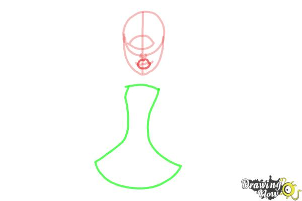 How to Draw Iris Clops from Monster High - Step 4