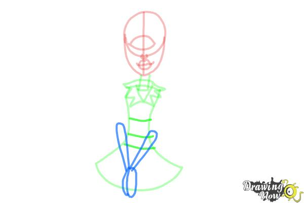 How to Draw Iris Clops from Monster High - Step 6
