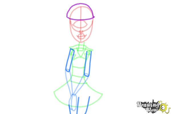 How to Draw Iris Clops from Monster High - Step 7